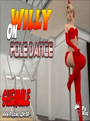 Willy on Pole Dance- [PigKing Shemale]